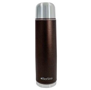 "Imagen de Termo 1L bala forrado color marrón, pico botón, base antideslizante, ""Berlina"""