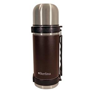 """Imagen de Termo 1L forrado color marrón, pico cebador, base antideslizante, """"Berlina"""""""