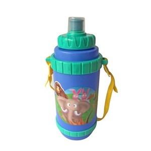 Imagen de Botella de plástico, con pico pull push, con correa, varios diseños infantiles