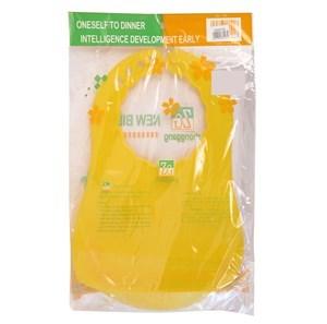 Imagen de Babero de plástico, con receptor de alimentos.