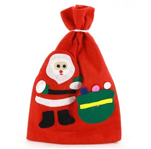 Imagen de Bolsa navideña, de fieltro, con diseño