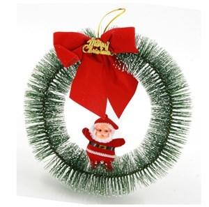 Imagen de Adorno navideño para puerta Papá Noel con moña, en bolsa