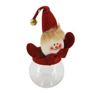 Imagen de Caramelera de plástico, con diseños navideños
