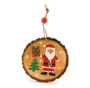 Imagen de Adorno navideño de madera con diseño