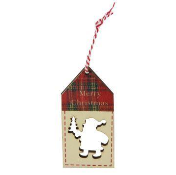 Imagen de Adorno navideño colgante de madera calado