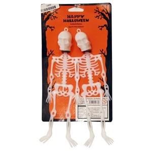 Imagen de Adorno esqueleto x2, para colgar, en cartón
