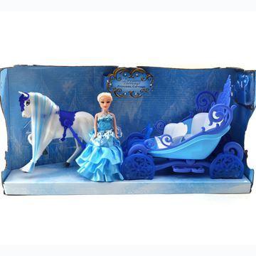 Imagen de Caballo y carruje con muñeca, con luz y sonido, 3AA, en caja