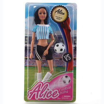 Imagen de Muñeca articulada con pelota de fútbol, en blister