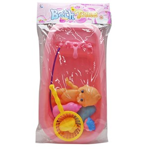 Imagen de Bañito con bebote y accesorios, 2 colores, en bolsa