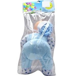 Imagen de Bebote cara de goma cuerpo de trapo con sonido, con mamadera, en bolsa de PVC