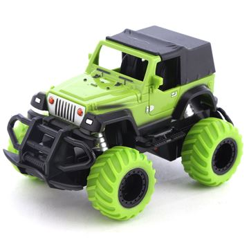 Imagen de Vehículo, jeep con control remoto, con luz, 2+2AA, en caja
