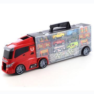 Imagen de Vehículo, camión con valija con autitos y accesorios