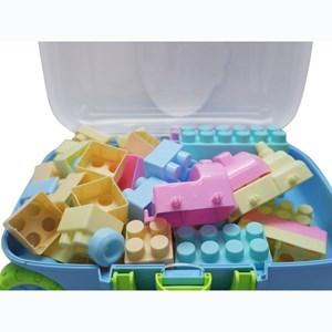 Imagen de Blocks 60 piezas grandes, en carrito, 2 colores