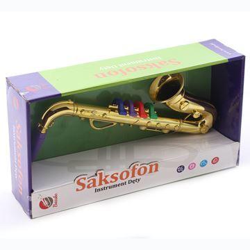 Imagen de Instrumentos musicales, saxofón, en caja