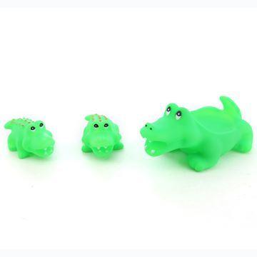 Imagen de Animales de goma con chifle, cocodrilos, x3, en bolsa