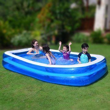 Imagen de Piscina inflable 2 aros, 2200 litros, en caja, Jilong