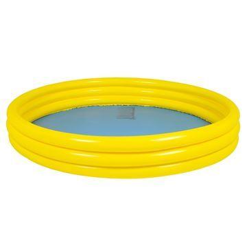 Imagen de Piscina inflable 3 aros, 450 litros, 2 colores, en bolsa, Jilong