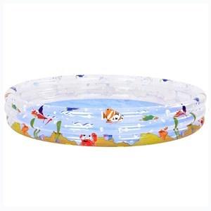 Imagen de Piscina inflable 3 aros, 1000 litros, con diseño, en caja, Jilong