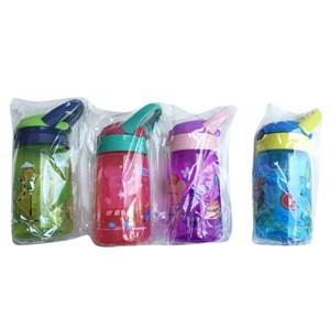 Imagen de Botella de plástico, pico retráctil, con asa de goma, con diseño infantil, varios diseños