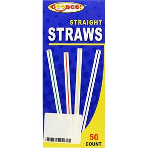 Imagen de Sorbitos de plástico rayados, caja x50