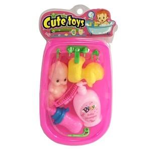 Imagen de Bañito mini, con bebote y accesorios, 2 colores, en bolsa