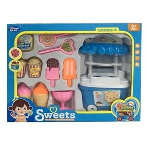 Imagen de Carrito de helados con 10 accesorios, en caja