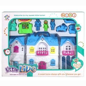 Imagen de Casa para muñecas, con accesorios, en caja