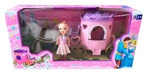 Imagen de Caballo y carruaje con muñeca, en caja