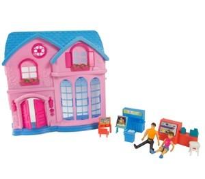 Imagen de Casa para muñecas, con muñecos y accesorios, con luz y sonido, 2AA, en caja
