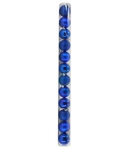 Imagen de Adorno navideño bolas x12, 3 texturas, varios colores, en tubo de mica