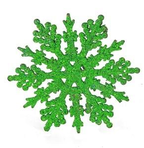 Imagen de Adorno navideño copo de nieve x6, con brillantina de varios colores, en bolsa