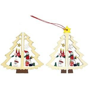 Imagen de Adorno navideño de madera, 3D, varios diseños, en bolsa