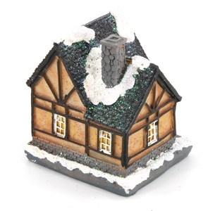 Imagen de Adorno casa navideña con luz, en caja