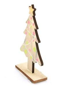 Imagen de Adorno navideño árbol de mesa, en madera
