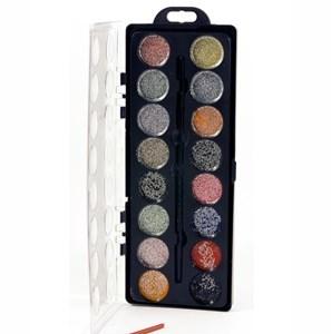 Imagen de Acuarela 16 colores, con brillantina, con pincel