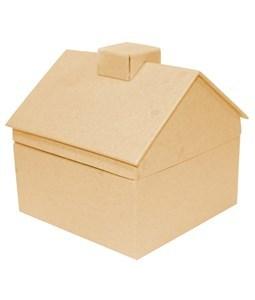 Imagen de Caja de cartón casita, para decorar