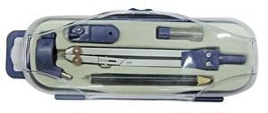 Imagen de Compás con lápiz, puntas y adaptador, en estuche plástico