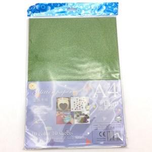 Imagen de Hojas A4, cartón con brillantina, bolsa x10 colores