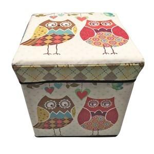 Imagen de Caja baquito cuadrada, forrada en PVC, varios diseños