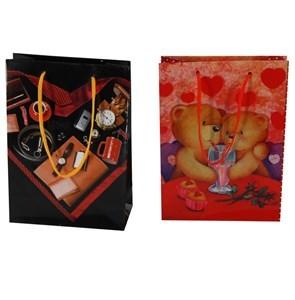Imagen de Bolsa de regalo chica, en papel satinado, pack x12