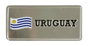 Imagen de Matrícula decorativa de metal, Uruguay