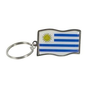 Imagen de Llavero de metal bandera diseño URUGUAY, pack x12