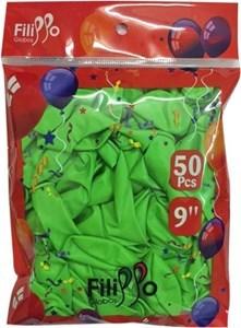 "Imagen de Globo 9"" FILIPPO verde, bolsa x50"