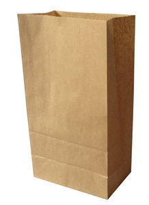 Imagen de Bolsa de papel marrón mediana, pack x50