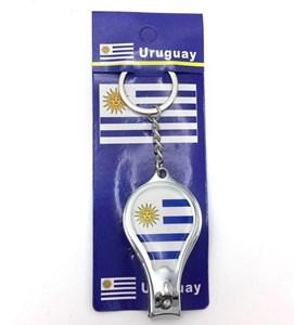Imagen de Llavero corta uñas, diseño URUGUAY, pack x12