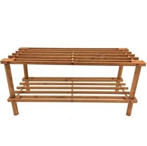 Imagen de Mueble estantería de madera multiuso, 2 estantes, en caja