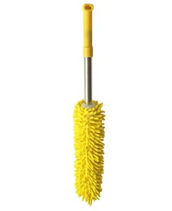 Imagen de Plumero de microfibra, con mango de acero inoxidable  extensible