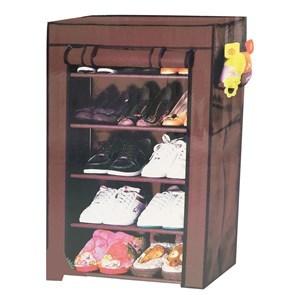 Imagen de Organizador para zapatos, de TNT con cierre, 4 estantes, en caja, varios colores