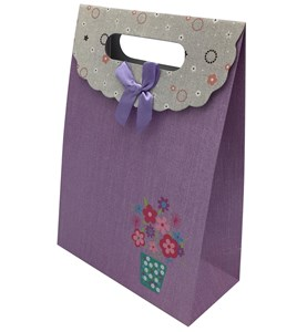 Imagen de Bolsa de regalo lisa, con moña, pack x12, varios diseños