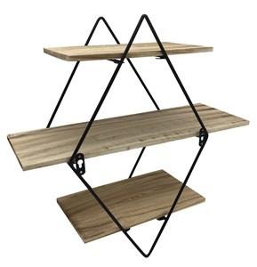 Imagen de Mueble, estantería de metal, 3 estantes de madera, 2 diseños
